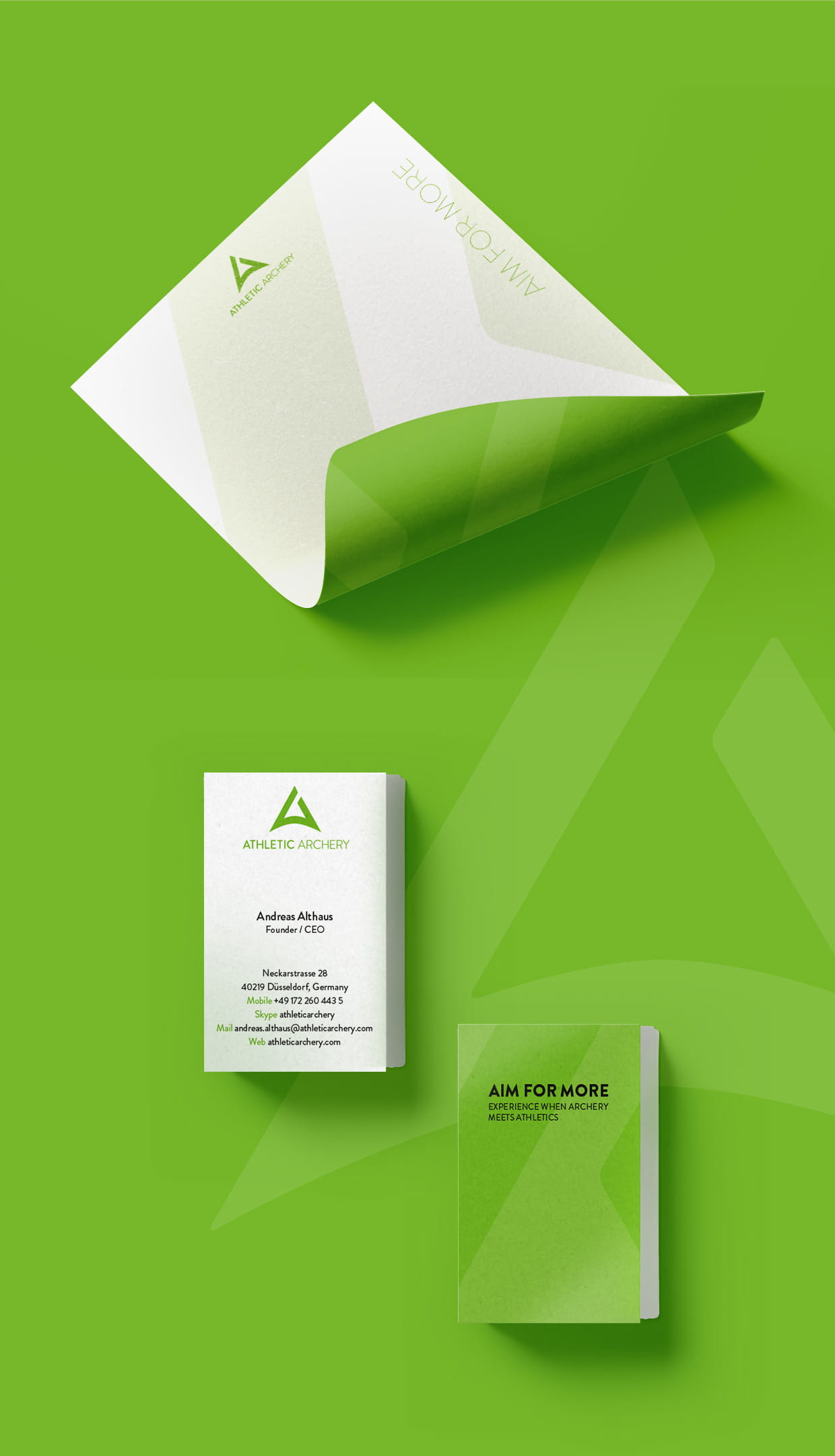 Markenbildung / Corporate Design: Athletic Archery Sportmarketing GmbH