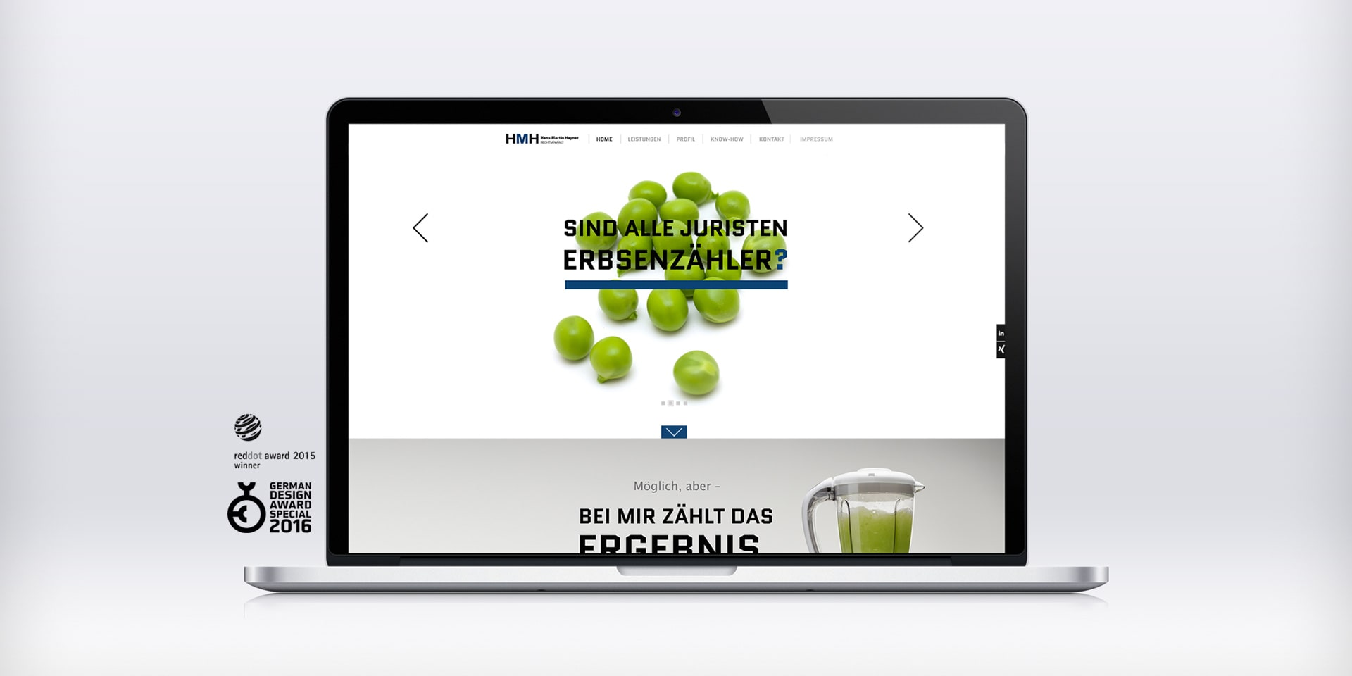 mobile Website Design RA HMH - R211 Agentur Düsseldorf